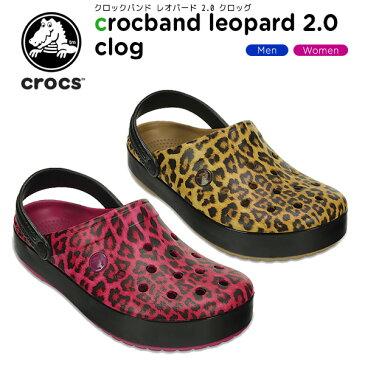 クロックス(crocs) クロックバンド レオパード 2.0 クロッグ(crocband leopard 2.0 clog) /メンズ/レディース/男性用/女性用/サンダル/シューズ/[r][C/B]【30】【ポイント10倍対象外】