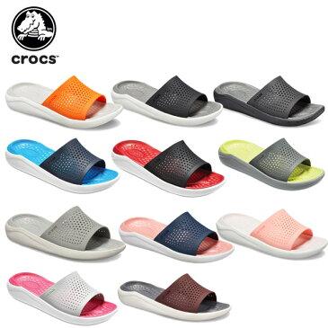 クロックス(crocs) ライトライド スライド(literide slide) /メンズ/レディース/男性用/女性用/サンダル/シューズ/[r][C/B]