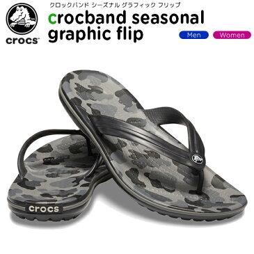 【15%OFF】クロックス(crocs) クロックバンド シーズナル グラフィック フリップ(crocband seasonal graphic flip) メンズ/レディース/男性用/女性用/サンダル/シューズ[C/B]