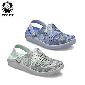 【15%OFF】クロックス(crocs) ライトライド プリンテッド カモ クロッグ(literide printed camo clog) メンズ/レディース/男性用/女性用/サンダル/シューズ[C/B]