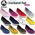 クロックス(crocs) クロックバンド フラット (crocband flat) /レディース/女性用/サンダル/シューズ/フラットシューズ/【30】[r]