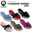 クロックス(crocs) クロックバンド ウェッジ (crocband wedge) /レディース/女性用/サンダル/ウェッジサンダル/シューズ/【50】[r]