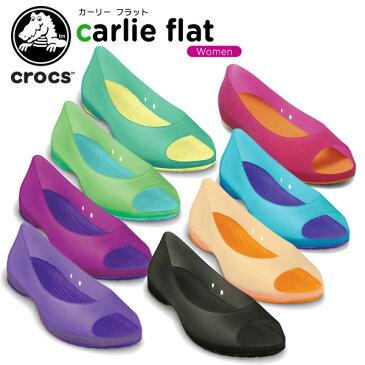 【50%OFF】クロックス(crocs) カーリー フラット (carlie flat) /レディース/女性用/サンダル/シューズ/フラットシューズ/[r][C/A]【ポイント10倍対象外】