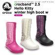 クロックス(crocs) クロックバンド 2.5 ハローキティ ウィンター ハイブーツ ウィメン(crocband 2.5 Hello Kitty winter high boot w)/レディース/女性用/ブーツ/ロングブーツ/【50】[r]