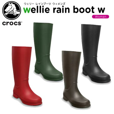 【51%OFF】クロックス(crocs) ウェリー レインブーツ ウィメンズ(wellie rain boot w) /レディース/女性用/シューズ/ブーツ/長靴/[r][C/C]【ポイント10倍対象外】