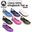 【46%OFF】クロックス(crocs) クロックス レトロ スリングバック ウィメン (crocs retro slingback flat w) /レディース/女性用/サンダル/シューズ/[r]【ポイント10倍対象外】