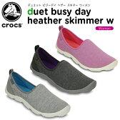 クロックス(crocs) デュエット ビジーデイ ヘザー スキマー ウィメン(duet busy day heather skimmer w) /レディース/女性用/シューズ/フラットシューズ/【30】[r]