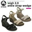 クロックス(crocs) レイ 2.0 アンクル ストラップ ウェッジ ウィメン(leigh 2.0 ankle strap wedge w ) /レディース/女性用/ヒール/シューズ/[r]【25】