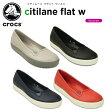 クロックス(crocs) シティレーン フラット ウィメン(citilane flat w) /レディース/女性用/シューズ/フラットシューズ【20】[r]