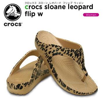 クロックス(crocs) クロックス スローン レオパード フリップ ウィメン(crocs sloane leopard flip w) /レディース/女性用/サンダル/シューズ/[r][C/A]