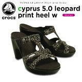 クロックス(crocs) サイプラス 5.0 レオパード プリント ヒール ウィメン(cyprus 5.0 leopard print heel w) /レディース/女性用/サンダル/ヒール/シューズ/[r]【30】[C/A]【ポイント10倍対象外】