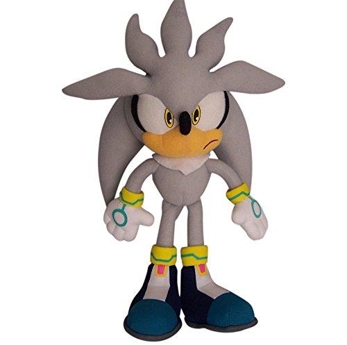ぬいぐるみ・人形, ぬいぐるみ Plush - Sonic The Hedgehog - Silver Sonic 10 Doll Toy New Anime ge8960