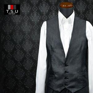 [Lサイズのみ]ジレ ベスト スーツベスト 4ボタン 日本製 光沢 フォーマル ビジネス メンズ メンズ mens(ブラック黒) 937046