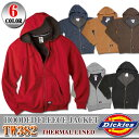 【Dickies】※TW382 フードパーカー フリース ジャケットサーマルライン ジップアップTHERMAL LINED HOODED FLEECE JACKET ディッキーズ