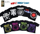 GTS【キッズTシャツ】第2弾!!ロックでクール!アーティスト ロックバンド GREEN DAY MIS FITS Nirvana RAMONES REDHOT CHILI