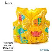 INTEXインテックス子供用トロピカルバディスイムベスト浮き輪キッズおしゃれかわいいプール海水浴リゾート旅行