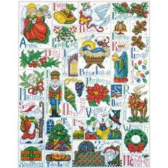 クロスステッチ刺繍キット Design Works(デザインワークス) - Christmas ABC Sampler
