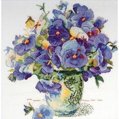 クロスステッチ刺繍キット Design Works - Pansy Floral