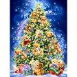 [クロスステッチ 刺繍 キット クリスマス] 輸入 HAED(Heaven And Earth Designs) - Dona Gelsinger - Mini Teddy Bear Tree 【ハンドメイド 刺繍セット 刺繍キット 手芸キット 手作りキット 手芸】