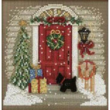 クロスステッチ刺繍 ビーズキット Mill Hill - Buttons and Bead - Home For Christmas