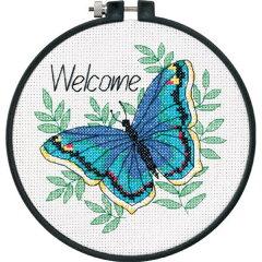 初心者向けのクロスステッチキットクロスステッチ刺繍キット Dimensions - Welcome Butterfly