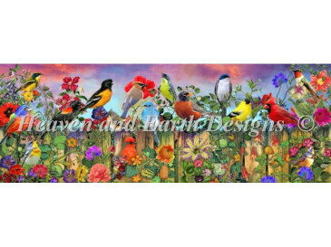 Birds And Blooms Garden Max Colors-HAED(Heaven and Earth Designs)-ロスステッチ キット