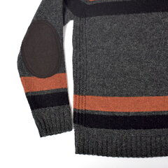 Soglia Landnoah Sweater: Charcoal Stripe