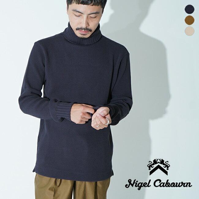 トップス, ニット・セーター  2020 80410020025 Nigel Cabourn TURTLE NECKE WAFFLE SHIRT 1003