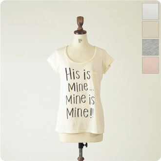 espeyrac エスペラック His is Mine. Logo T shirt with badge, 1311007 (4 colors) (free)