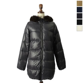 DUVETICA duvetica down / vest Grey Fur-Fin Racoon KAPPA and Kappa フィンラクーン shiny down coat-5334113102・13202 (FEN 32-D.037.00/1057.R-MFG) (5 colors Women's) (S, M, L, LL)