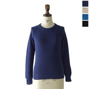 ORCIVAL (オーシバル/オーチバル):ざっくり編みにコンパクトなシルエットが可愛い長袖カラーニ...