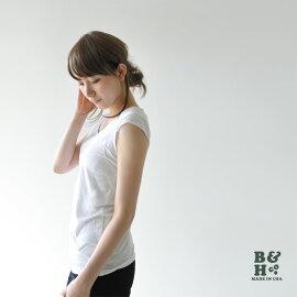 b&hビーアンドエイチロックステッチフレンチスリーブT・rdb10009(全5色)(S・M)【あす楽対応】