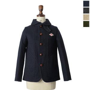 DANTON(ダントン):丸襟とくるみボタンが可愛い温もり溢れるウールジャケットDANTON ダントン ウ...