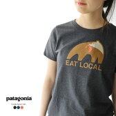 2017春夏新作 patagonia パタゴニア W's Eat Local Upstream Cotton/Poly Responsibili-Tee イートローカルアップストリームコットンポリレスポンシビリティー プリント 半袖Tシャツ ・39071 #0418