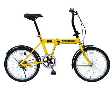 【ミムゴ】ハマー 折りたたみ自転車 20インチ シングルギア イエロー[MG-HM20G]FDB20G【送料無料※北海道は別途料金、沖縄・離島は配達不可】【代引き不可】オシャレ カーブランド 折畳み