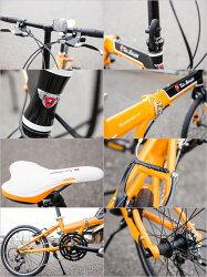 【ランボルギーニ自転車20インチ】【本州のみ送料無料※】折りたたみ自転車TL-2005ブラック【※沖縄・離島配送不可】【代引き不可】