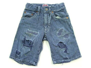 muchacha クラッシュヒッコリー パンツ Hickory pants Kid's キッズ ムチャチャ 036075 【中古】