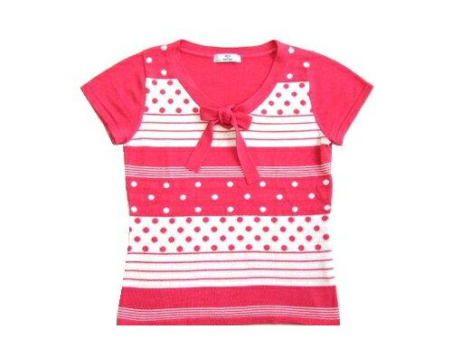 トップス, Tシャツ・カットソー NETTO di MAMMINNA (Princess ribbon short-sleeved shirt cut sew) 426 042696