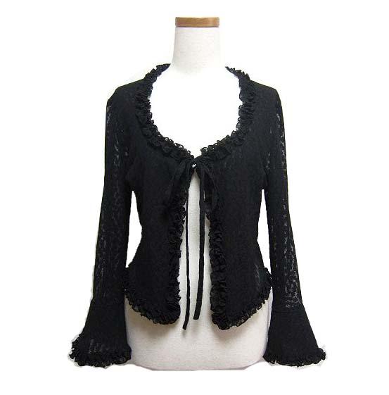 トップス, カーディガン・ボレロ ATELIER BOZ (Black devilish classic frill cardigan) 050379