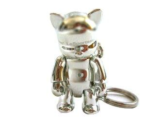 沒有新品同様廃盤Toy2r(Holdings)×LeSportsac限定Qee鍵環·迷人貓的端口套子(花式滑水)060645[中古]