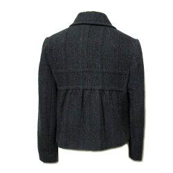 MiuMiuミュウミュウITALY「40」イタリア製ショートウールジャケット(ミウミウアウターブルゾンPRADAプラダ)063291【】
