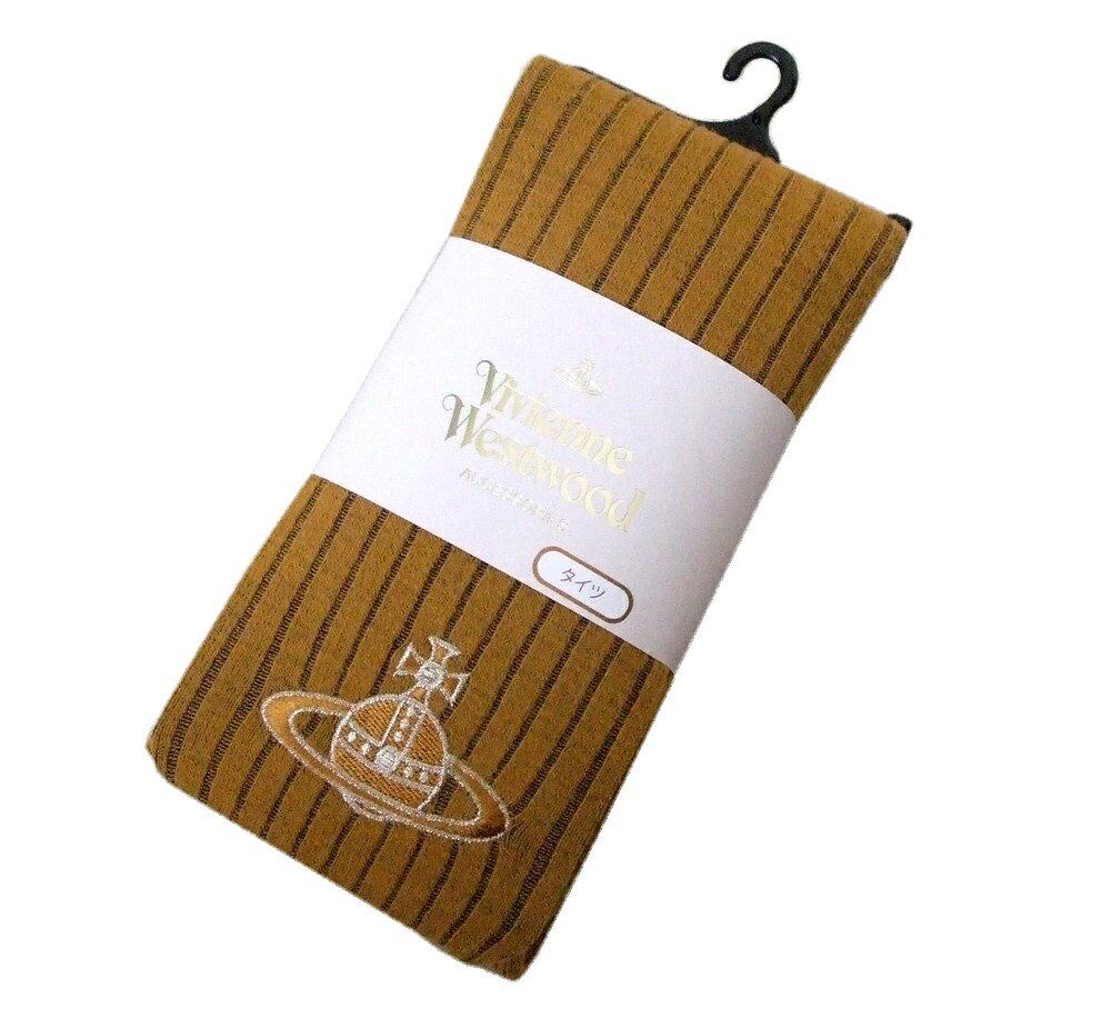 【新古品】 Vivienne Westwood ヴィヴィアンウエストウッド ジャイアントオーブ刺繍タイツ (ストッキング 靴下 ソックス イエロー) 094105 【中古】