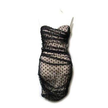 美品 AMBIENT アンビエント 「1」 フォーマルドレープワンピース (黒 ドレス パーティ) 100926 【中古】