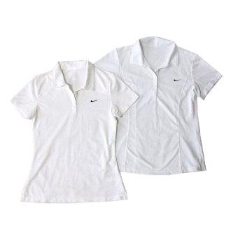 美品NIKE耐吉幹燥合身開領短袖襯衫2種安排(白短袖)101621