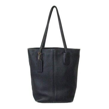 COACH コーチ レザートートバッグ (紺 ネイビー 鞄 革 皮) 112572 【中古】