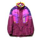 Vintage ellesse ヴィンテージ エレッセ 「M」 サイケデリックカラーマウンテンジャケット (紫 パープル スキー ダウンジャケット フランス) 116220 【中古】