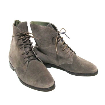 Jurgen Lehl ヨーガンレール 「23.5」 レザーチャッカーブーツ (グレー 天然素材 草木染め 革 皮 靴) 127176 【中古】