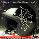 スワロフスキーで輝くクモの巣デザイン!スパイダーヘルメット★ SWAROVSKI SPIDER スワロフスキー スパ...