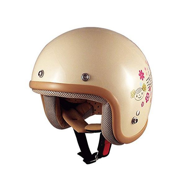 TNK工業スピードピットSPEEDPITCK-6COOKIESキッズスモールジェットヘルメットFREEバイク用オートバイヘルメッ