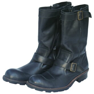 INDIAN MOTOCYCLE AEGIS soft cow leather Zip up Engineer boots / Orion ace
